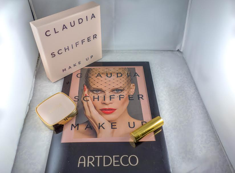 Claudia Schiffer Make up during the holidays