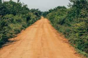 a calm safari road in Udawalawe