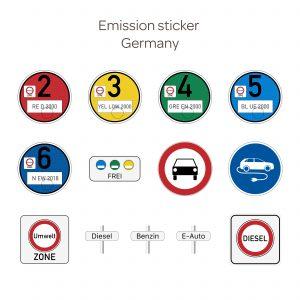milieusticker voor Duitsland