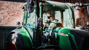 Tractor schapenboerderij