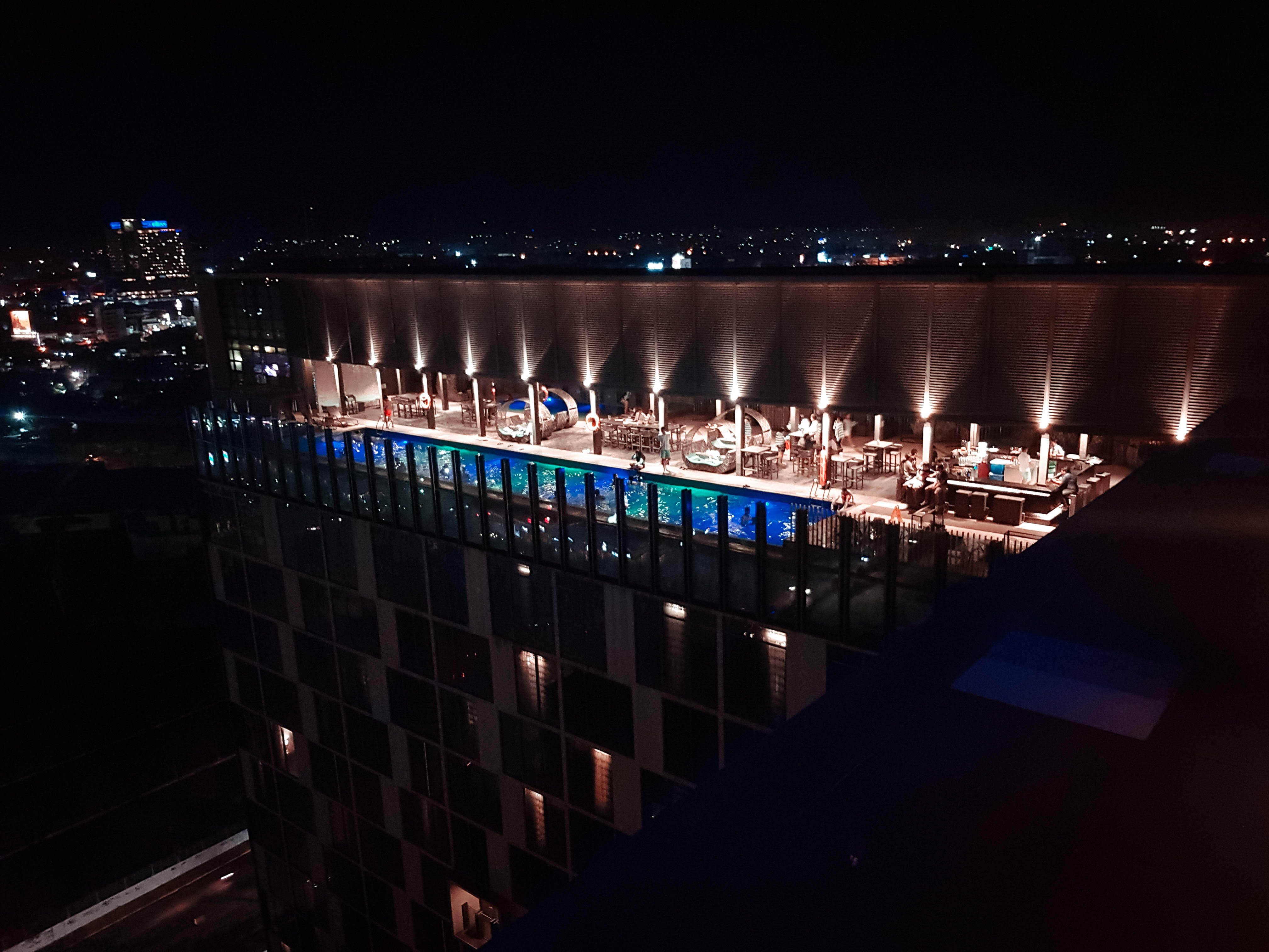 rooftop view of the rooftop pool