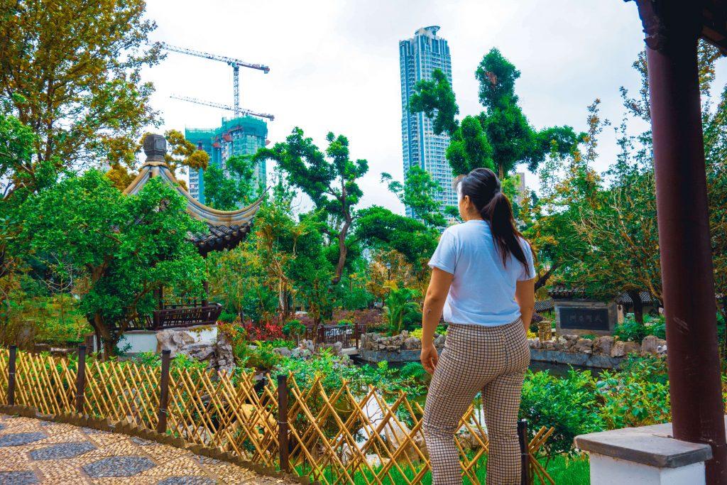 Kowloon walled city park in Hong Kong